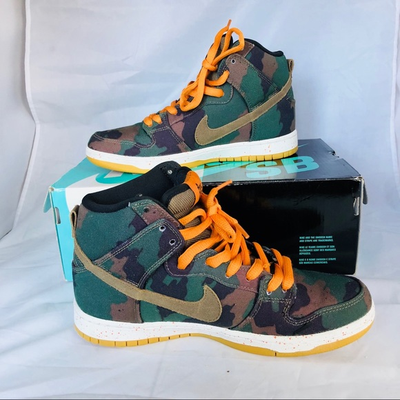 Nike Other - Nike Dunk High SB Five One O Mens 7 Camo Sneakers